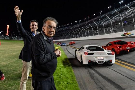 Il presidente Sergio Marchionne alle finali mondiali di Daytona (© Ferrari)