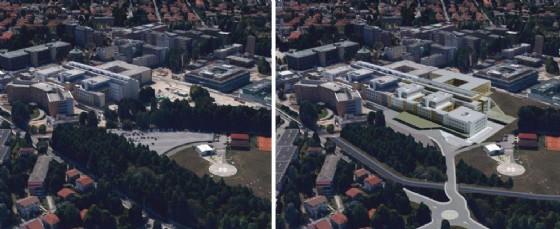 L'ospedale di Udine prima e dopo i lavori (© Diario di Udine)