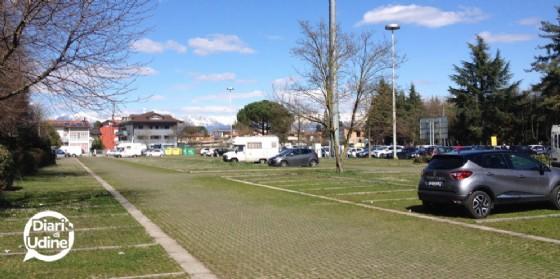 Il parcheggio di via Chiusaforte