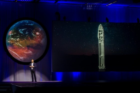 Tesla Motors CEO Elon Musk speaks about the ¿Interplanetary Transport System¿ which aims to reach Mars with the first human crew in history