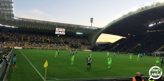 L'Udinese vince al Friuli (© Diario di Udine)