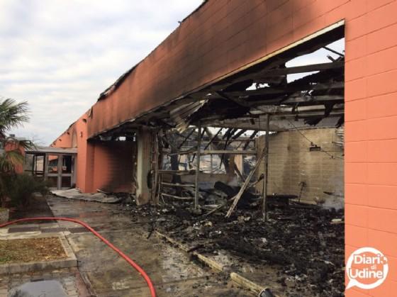 Il Catas dopo l'incendio