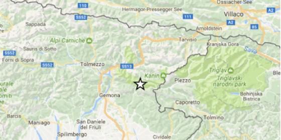 Registrata scossa di terremoto in Fvg