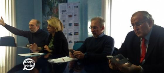 Riccardo Riccardi, Sandra Savino, Roberto Novelli e Rodolfo Ziberna (© Diario di Trieste)