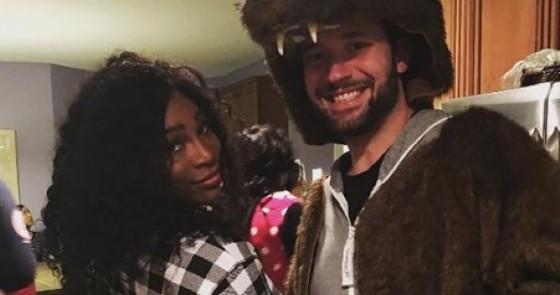 Serena Williams con il «futuro» marito, Alexis Ohanian (© Instagram)
