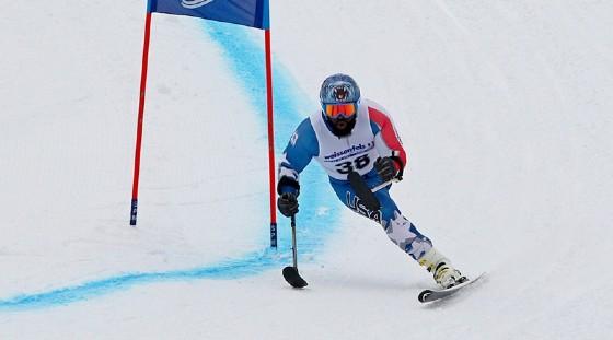 Un atleta paralimpico in gara proprio a Tarvisio (© fisifvg)