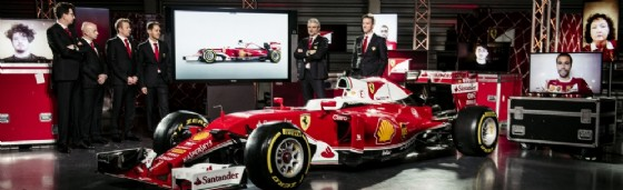 La presentazione della SF16-H un anno fa (© Ferrari)