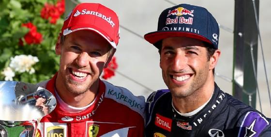 Sebastian Vettel e Daniel Ricciardo (© Red Bull)