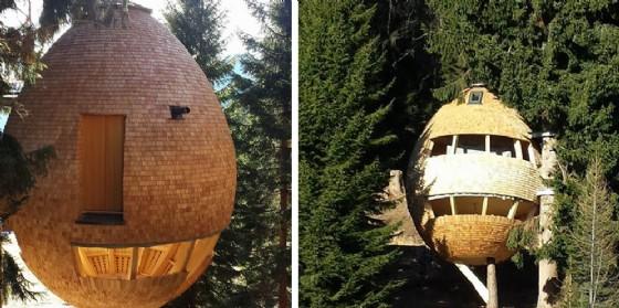 In valcanale si costruiscono casette di design sugli alberi for Case in legno sugli alberi