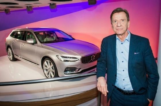 Swedish car manufacturer Volvo's CEO, Hakan Samuelsson