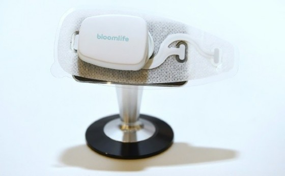 The Smart Pregnancy Tracker from Bloomlife, which allows for automatic tracking and counting of contractions from the convenience of home, is on display at the 2017 Consumer Electronic Show