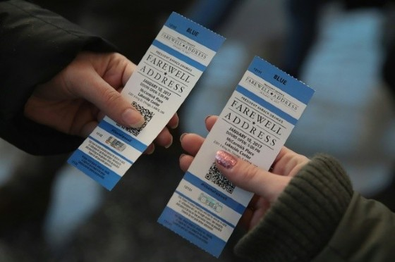 President Barack Obama's diehard fans, many African Americans, have braved Chicago's frigid winter to collect free tickets, which now sell for upwards of $1,000 a piece on Craigslist