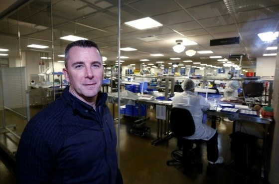 Shinola CEO Tom Lewand poses for a photo at the company's watch factory in Detroit, Michigan