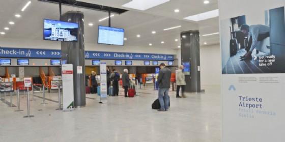 L'interno dell'aeroporto del Fvg a Ronchi