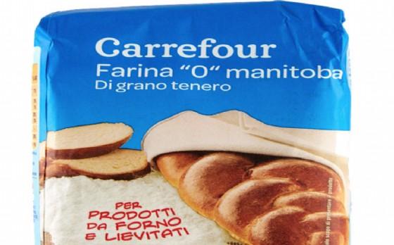 La farina di grano tenero tipo '0' manitoba di Carrefour