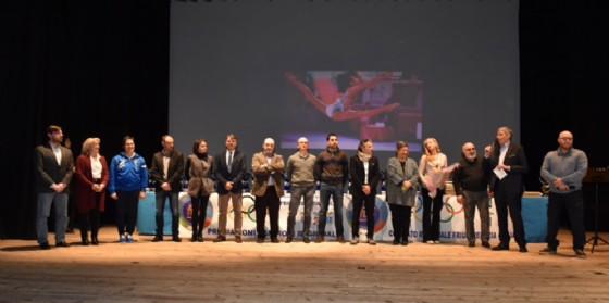 Il consiglio direttivo FGI-Fvg e i presidenti delle società sportive patrocinanti l'evento (© Comitato Regionale F.G.I. Fvg)