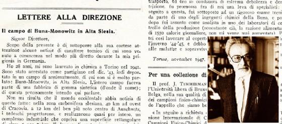 La lettera ritrovata e, nel riquadro, Primo Levi (© Diario di Udine)