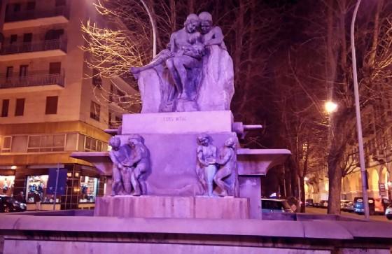 La fontana che si trova in via Matteotti