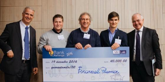 Il gruppo vincitore della prima edizione di iBank Challenge (© Friuli Innovazione)