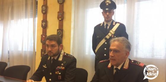 I carabinieri di Tolmezzo presentano l'operazione (© Diario di Udine)