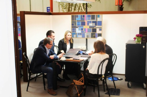 All'interno dello stand di Vitale Barberis Canonico