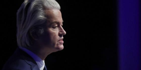Geert Wilders, leader del Pvv olandese. (© SASCHA DITSCHER / ANSA)