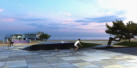 Ecco come sarà l'area davanti alla Terrazza a Mare (© Lignano)