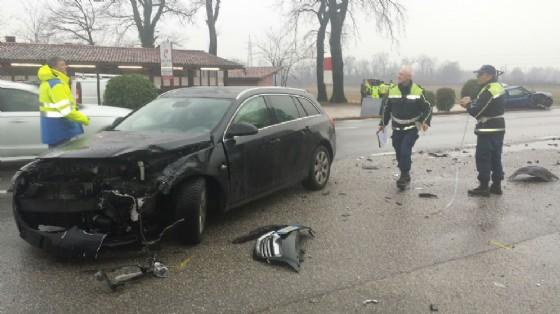 Incidente sulla Sr 56 a Manzano (© G.G.)