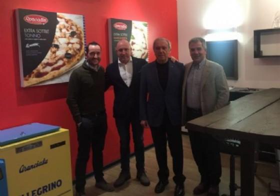 Nella foto, da sinistra, l'ad Dario Roncadin, il presidente Mauro Lovisa, il presidente onorario Giampaolo Zuzzi e il direttore vendite Italia Carlo Milva