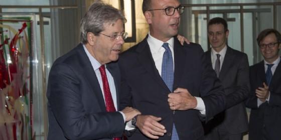 Il premier Paolo Gentiloni e il ministro degli Esteri Angelino Alfano.