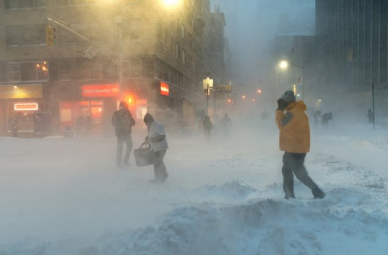 Bufera di neve a New York