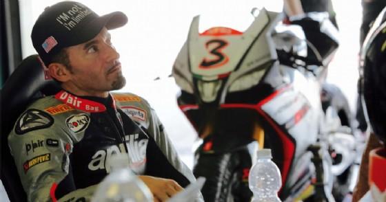 Max Biaggi ai tempi della Superbike con Aprilia