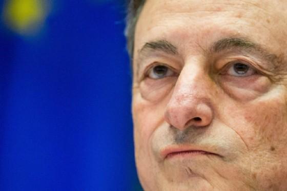 Il governatore della Bce, Mario Draghi. (© Stephanie Lecocq | Ansa.it)