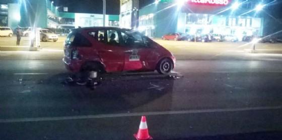 Una delle auto coinvolte nell'incidente (© G.G.)