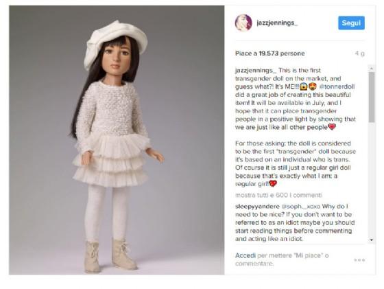 Il post su Instagram