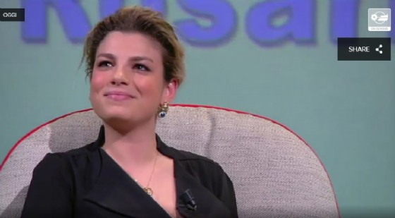 Emma Marrone a L'Intervista (© Mediaset)