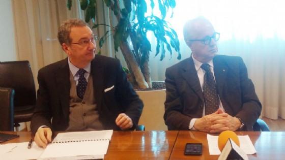 Bolzonello e Marchiori alla presentazione dei dati (© Confcommercio)