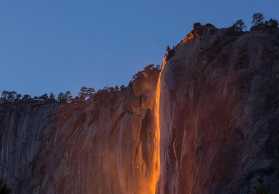 Le cascate di fuoco delle Yosemite Falls