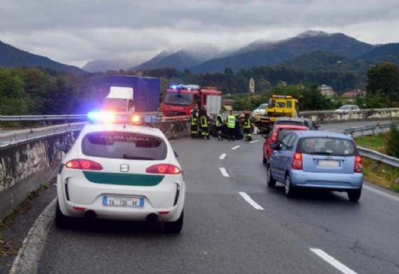 Immagine di repertorio di un incidente sulla Superstrada (© Diario di Biella (M))
