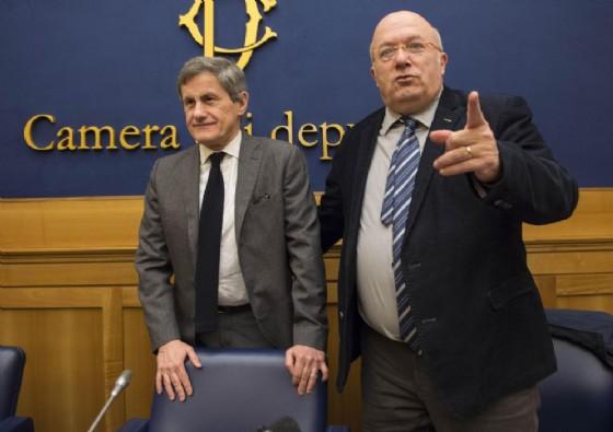 Gianni Alemanno e Francesco Storace, fondatori del nuovo Polo sovranista (© ANSA, PHOTO)