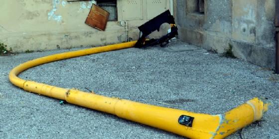 Il semaforo abbattuto a Santa Caterina (© Diario di Udine)