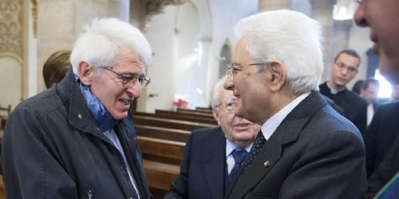 L'ex sindaco Benvenuti con Mattarella (© Quirinale)