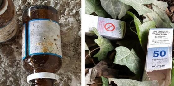 Ecco alcune delle boccette di metadone trovate a Cervignano (© bassaparola.it)