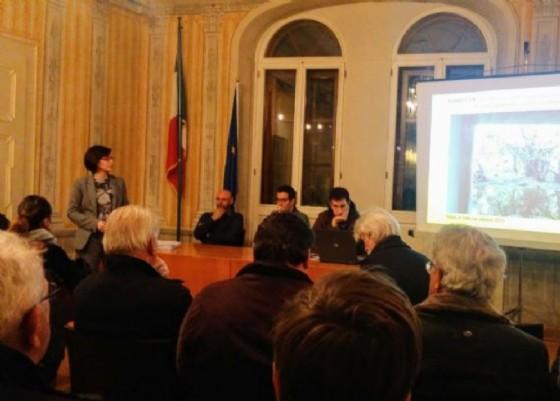 Sara Vito (Assessore regionale Ambiente ed Energia) all'incontro sugli interventi di miglioramento della sicurezza idraulica sul territorio comunale