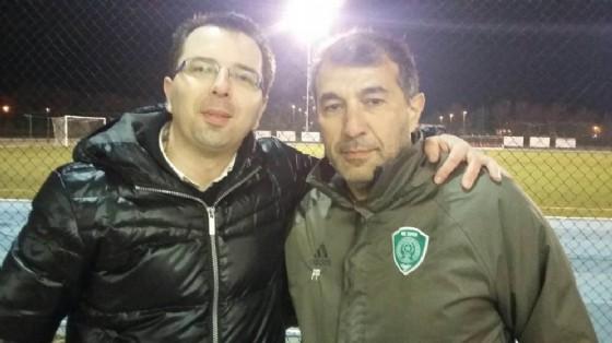 Jurij Cozianin con il mister Rasid Rahimov