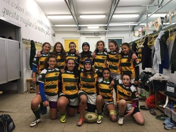 La squadra Under 16 del Biella Rugby femminile