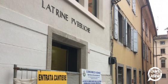 Le latrine restaurate (© Diario di Udine)