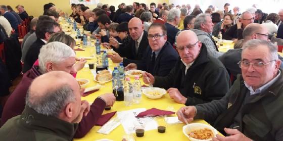 I cacciatori riuniti a Coseano (© Federcaccia)