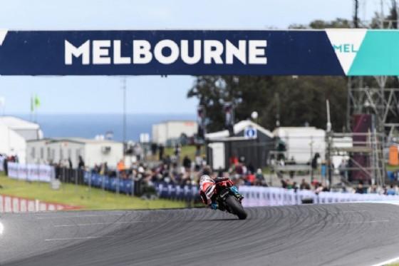 Marco Melandri in pista in Australia