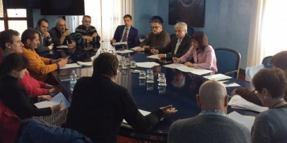 Debora Serracchiani incontra i rappresentanti sindacali dello stabilimento della Finegil Editoriale S.p.A. di Gorizia (© Regione Friuli Venezia Giulia)